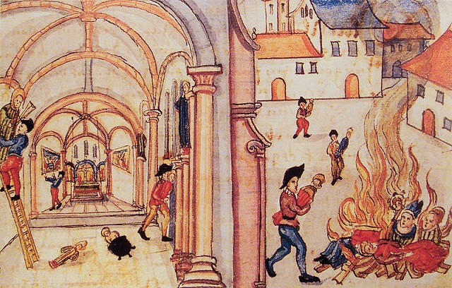 Autor desconhecido, 1524, destruição de estátuas de santos em Zurique (Alemanha)