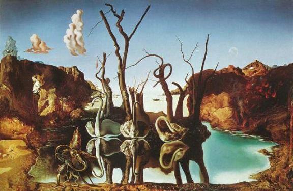 Cisnes relfetindo elefantes (1973)